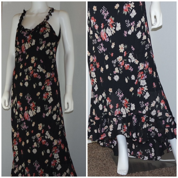 Tall Girl Dresses & Skirts - Tall Girl Floral Dress with Ruffle Train Sz 16